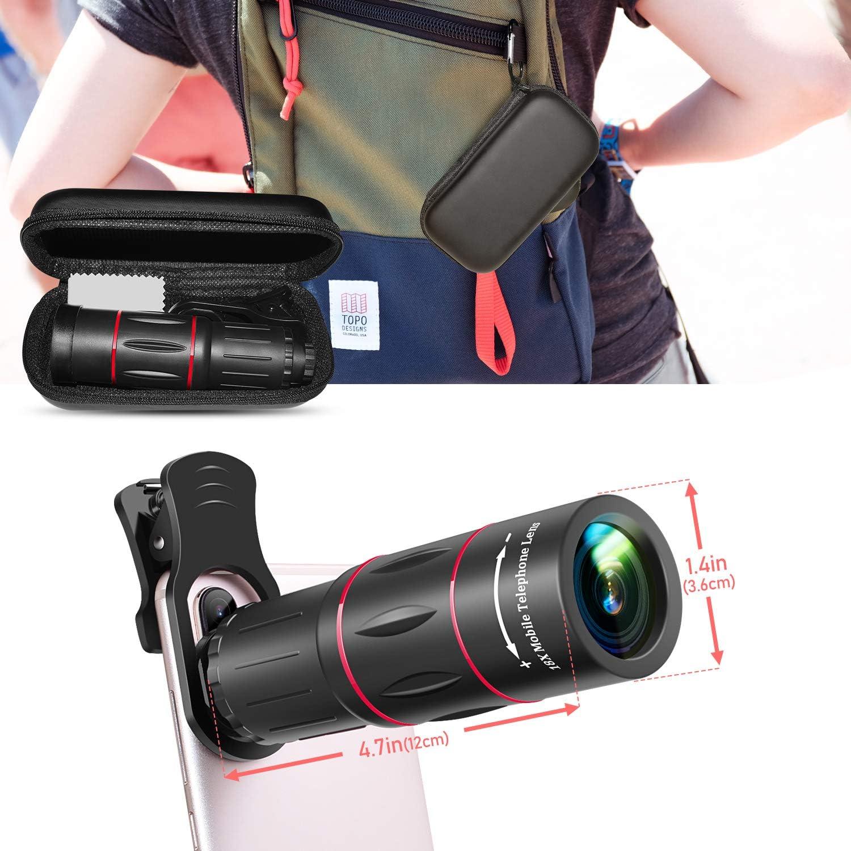 Handy Objektiv 18x Zoom Teleobjektiv Mit Koffer Hd Elektronik