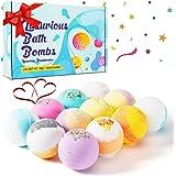 12 Bombas de Baño, Bolas de Baño con Aceites Esenciales Naturales Set de Regalo con Juguetes Sorpresa Baño de Burbujas…