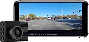 "Garmin Dash Cam 46, Wide 140-Degree Field of View In 1080P HD, 2"" LCD Screen and Voice Control, Very Compact with Automatic Incident Detection and Recording"