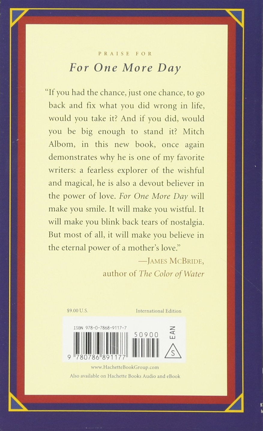 For One More Day International Edition: Mitch Albom: 9780786891177:  Amazon: Books