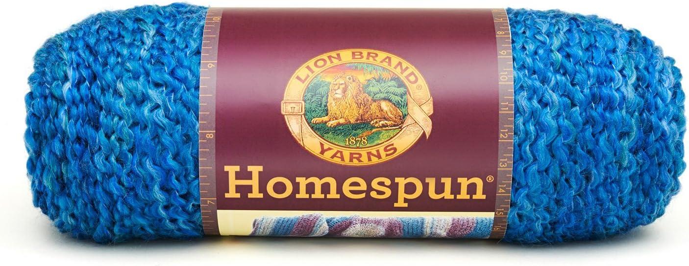 Lion Brand Yarn Lion Brand Homespun Yarn (368) Montana Sky