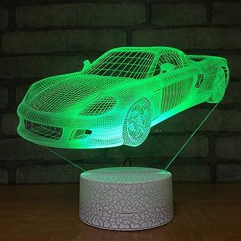 3D Lámpara de Escritorio Mesa 7 cambiar el color Coche deportivo ...