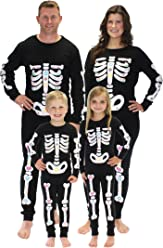 Sleepyheads Halloween Skeleton Bones Family Matching Pajama Set