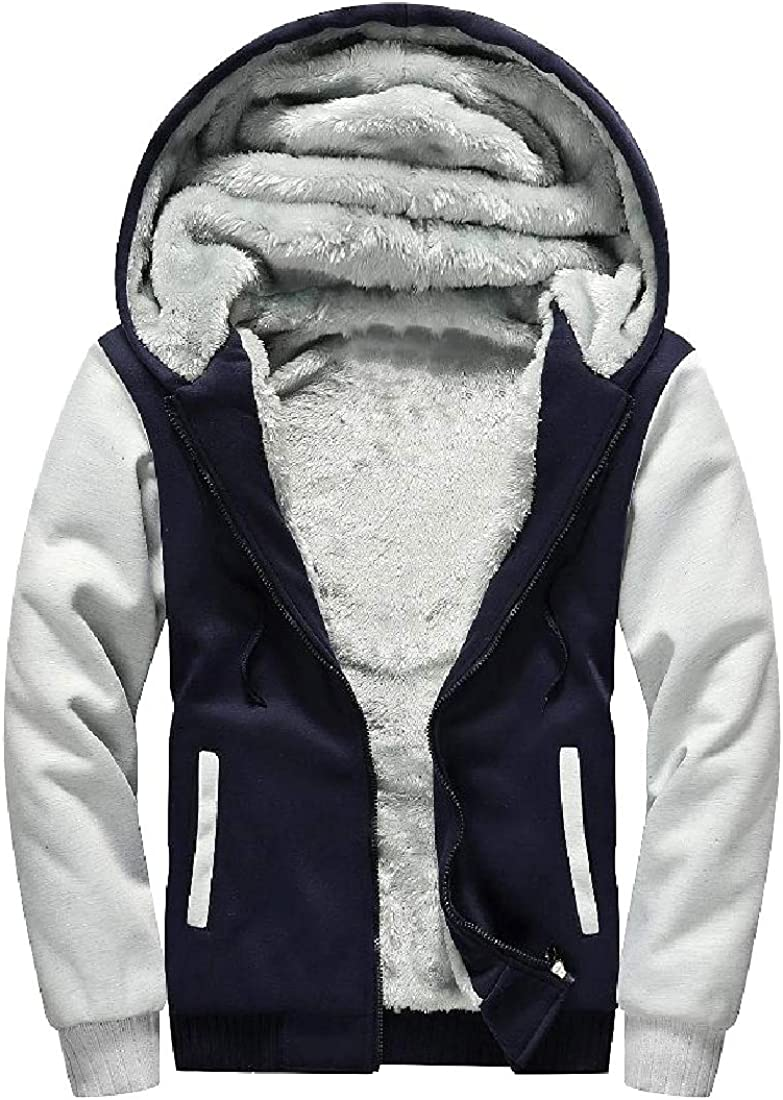 Winwinus Mens Hooded Relaxed-Fit Velvet Lined Thermal Parka Jackets