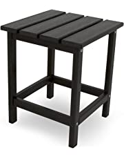 Poly-Wood ECT18BL Long Island 18-Inch Side Table, Black