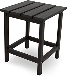 """product image for POLYWOOD ECT18BL Long Island 18"""" Side Table, Black"""