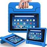 AVAWO Shock Proof Case for Fire HD 8 2017/2018 Tablet with Alexa- Kids Shockproof Convertible Handle Light Weight Protective Stand Case for Fire HD 8-inch (7th/8th Generation, 2017/2018 Release), Blue