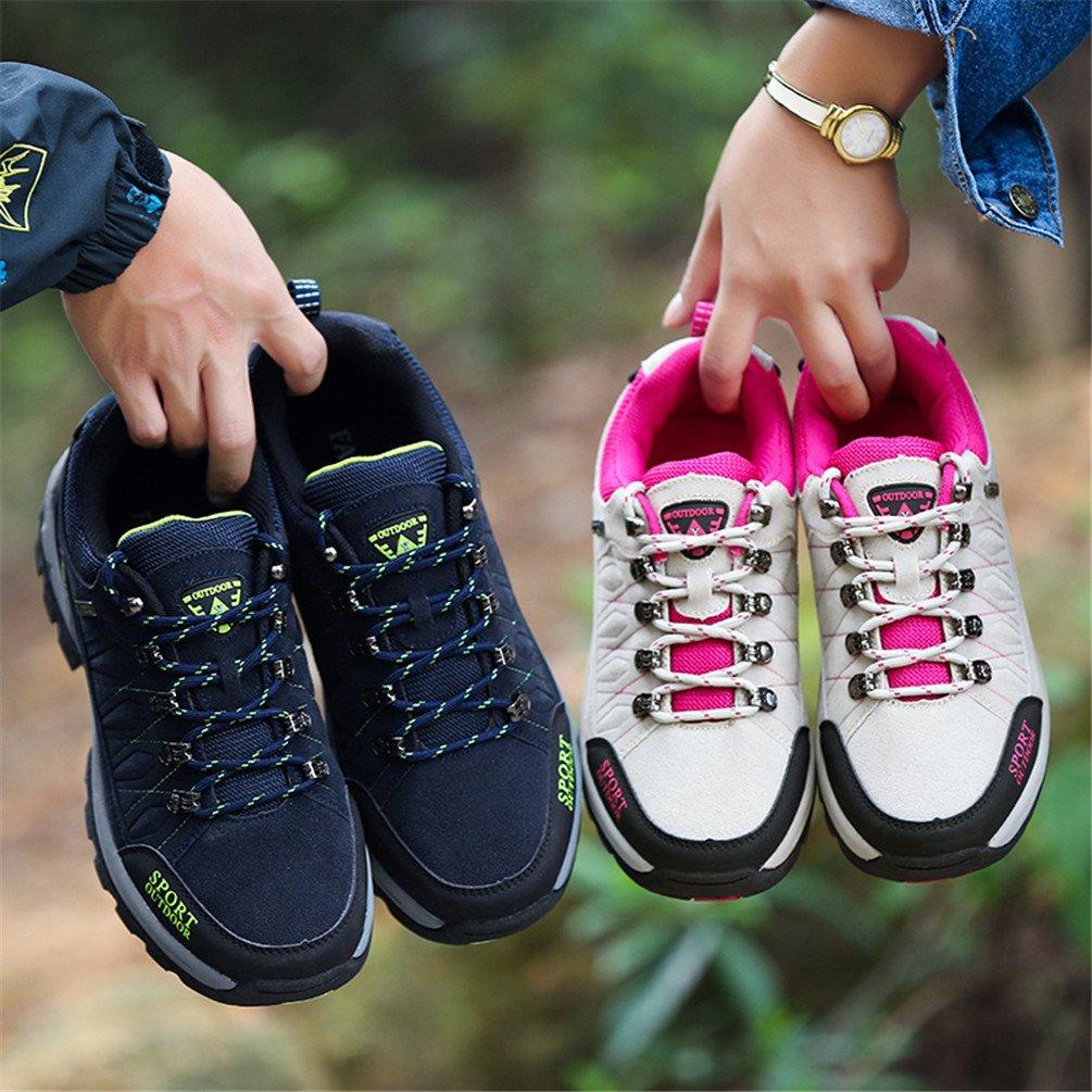 Rock Climbing Shoes Unisex Hiking Shoes Men Women Walking Sneaker Skid Proof Waterproof for Ourdoor Use-Blue-47 EU by Sherry Love (Image #7)