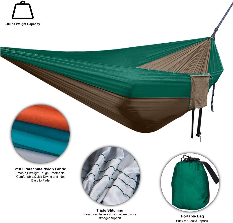 Garden Camping Single Hammock Lightweight Hang Bed Outdoor Travel Portable