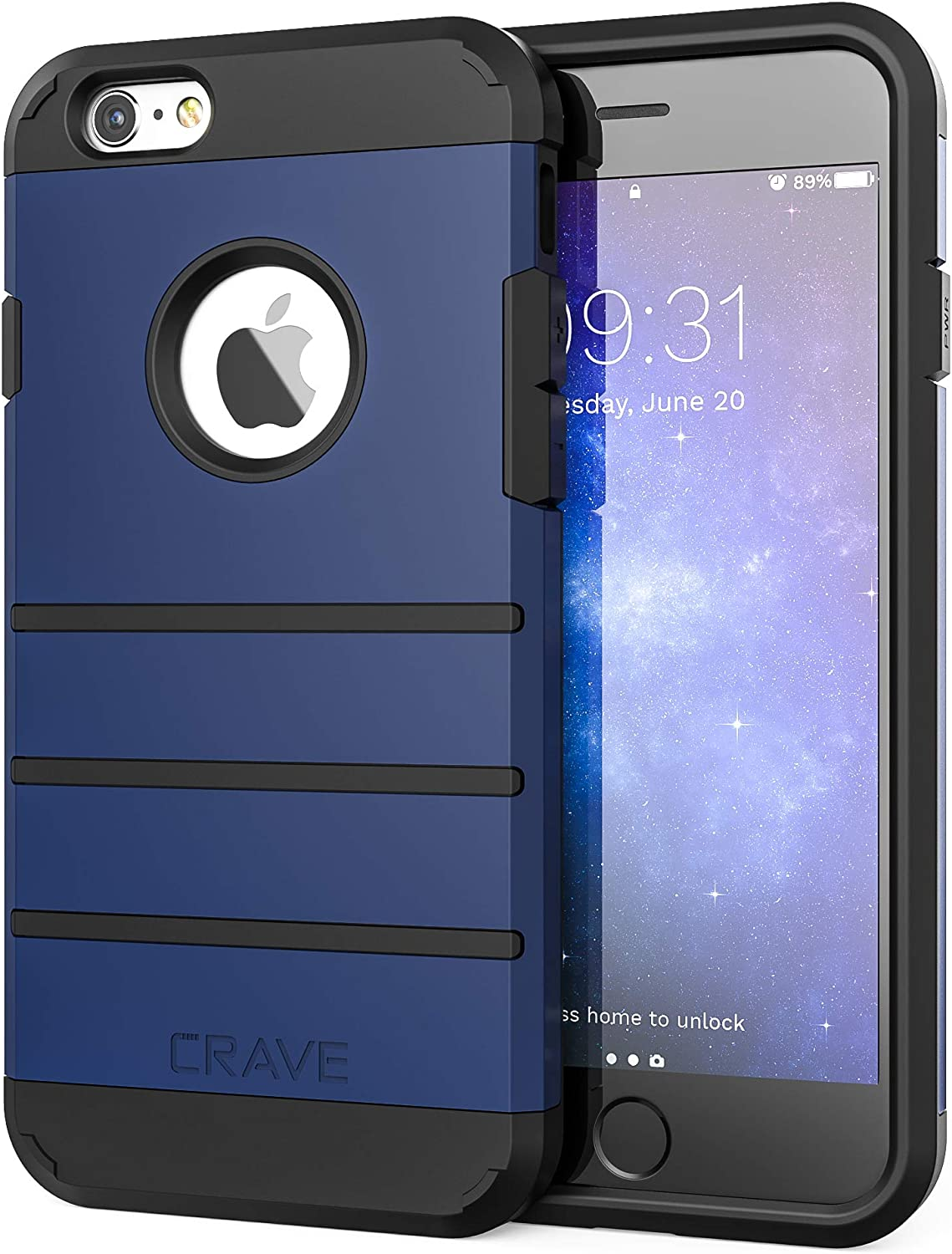 Crave iPhone 6S Case, iPhone 6 Case, Strong Guard Protection Series Case for Apple iPhone 6 6s (4.7 Inch) - Navy