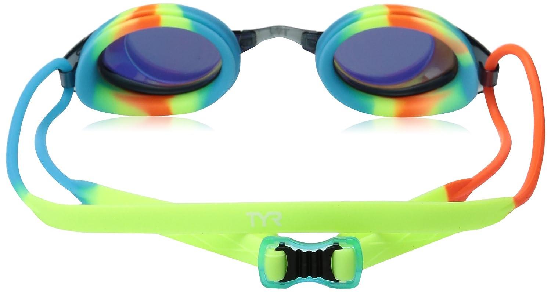 ae8b1fdc8d9 TYR Kids  Blackhawk Racing Mirrored Low Profile Swimming Goggles ...