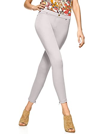 f282d69dd51650 HUE Super Smooth Denim Skimmer w/Zipped Ankles at Amazon Women's Clothing  store: