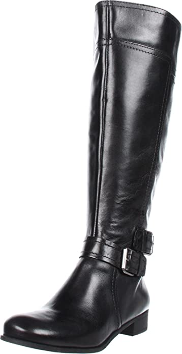 Amazon.com | Nine West Women's Shiza Wide Calf Knee-High Boot ...
