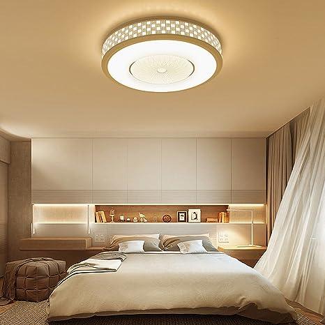 DGT Lámpara de Techo Dormitorio Redondo Moderna Sala de ...