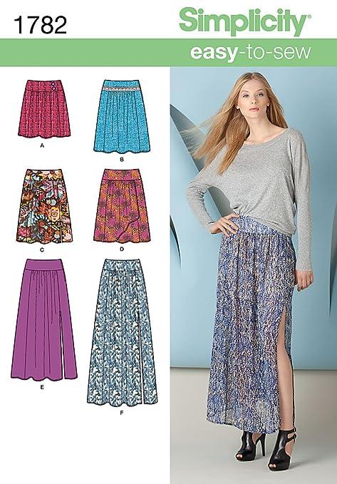 Simplicity 1782.R5 - Patrones de costura para faldas de mujer ...