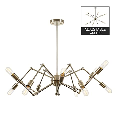 Light society arachnid 12 light chandelier pendant brushed bronze light society arachnid 12 light chandelier pendant brushed bronze mid century modern industrial aloadofball Image collections