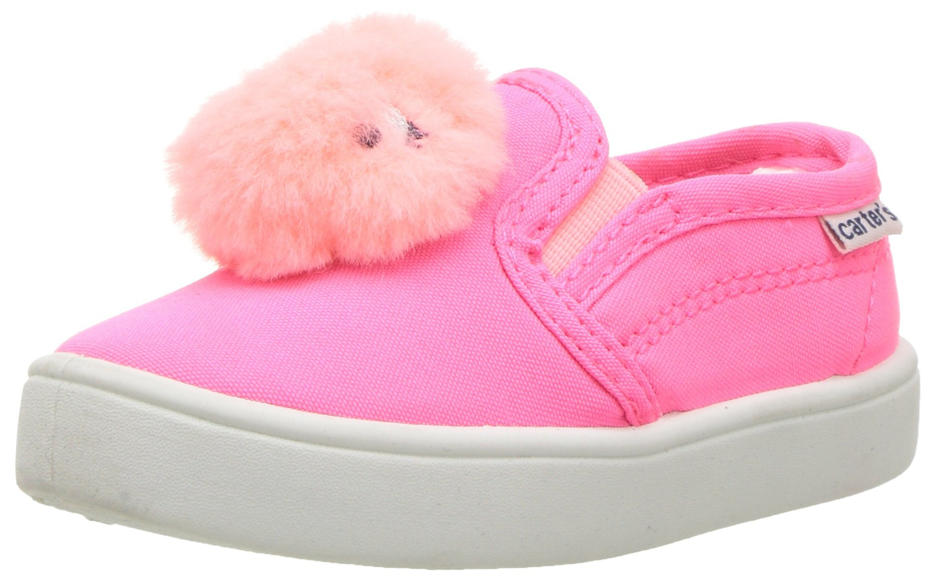 Carter's Girls' Tween Casual Slip-on Sneaker, Pink, 11 M US Little Kid