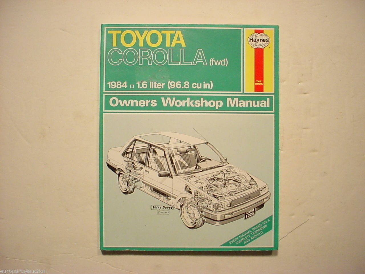 Amazon.com: Toyota Corolla Haynes Owners Workshop Manual 1025, 5M:  Automotive