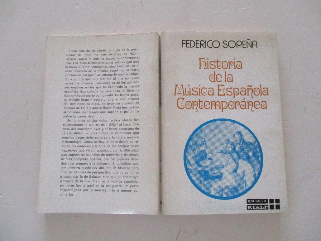 Historia de la musica española contemporanea: Amazon.es: Sopeña Ibañez, Federico: Libros