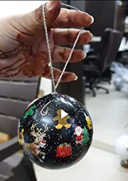 Cosmic Globe Exports-2 inch Christmas Balls;Christmas Decorations;Christmas Tree Decorations;Christmas Decorations for Home (Pack of 4)