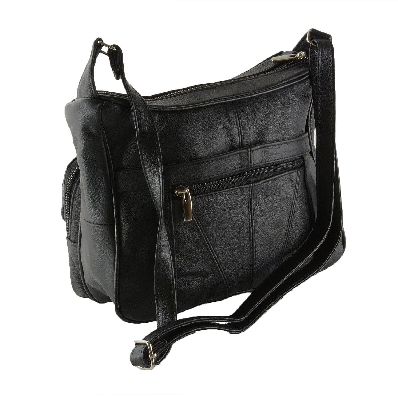 Women s Leather Organizer Purse Shoulder Bag Multiple Pockets Cross Body  Handbag  Amazon.in  Shoes   Handbags 2f204e91c5725