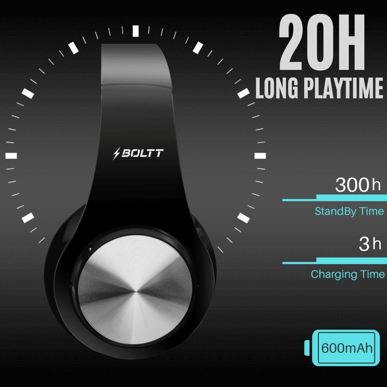 Fire-Boltt Blast 1000 Hi-Fi Stereo Over-Ear Bluetooth Headphones