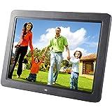 Cadre Photo Numérique LESHP Cadre Photo HD 12 inch Écran LCD Digital Photo Frame Reveil Contrôler à Distance