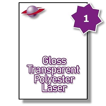 1 hoja/hojas por página 25 (25 transparente etiquetas adhesivas ...