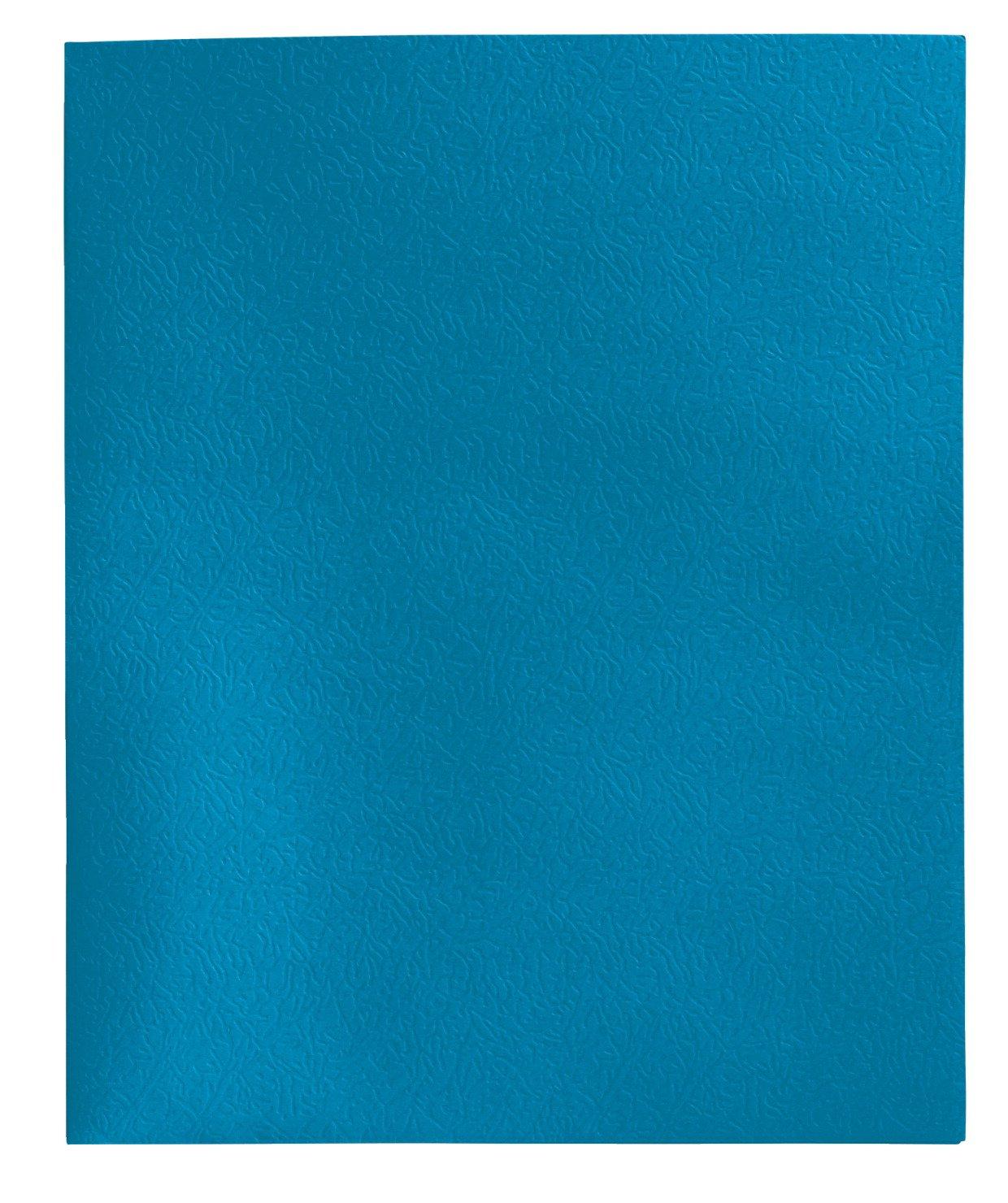 School Smart 84893 Heavy Duty 2 Pocket Folder - 8 1/2 x 11 inch - Pack of 25 - Light Blue