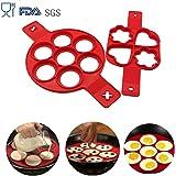 Buwant 2pezzi DIY pancake stampi per dolci in silicone
