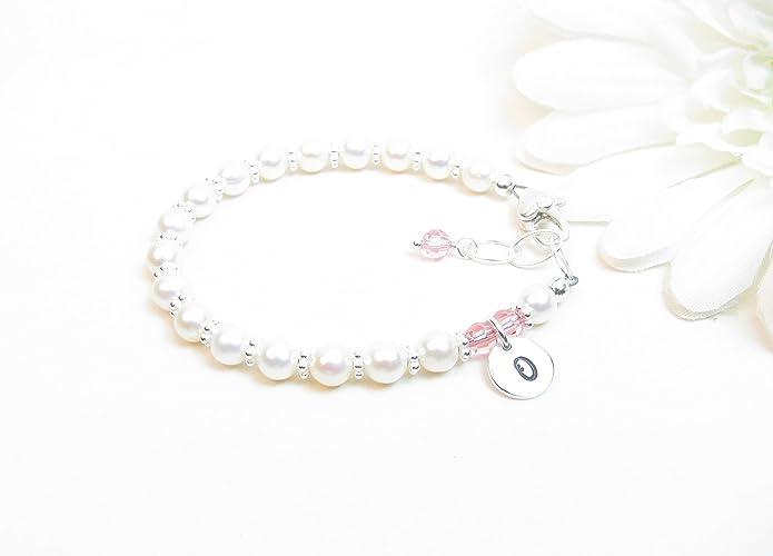 Amazon Com Baby Bracelet Baby Girl Bracelet Real Pearl