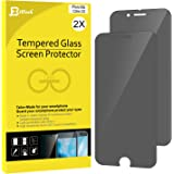 "iPhone 6s Screen Protector, JETech 2-Pack Premium Privacy Anti-Spy Tempered Glass Screen Protector for Apple iPhone 6 and iPhone 6s 4.7"" (Black) - 0803H"