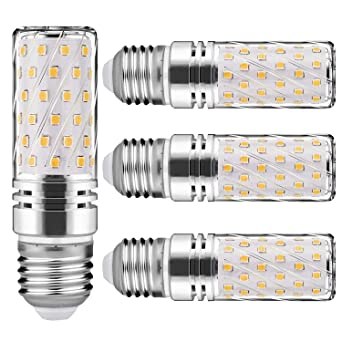 Nakital Bombilla E27 Led E27 Blanco Calido Calida 15 W 6000K 1500Lm LED Candelabros Equivalente Incandescente