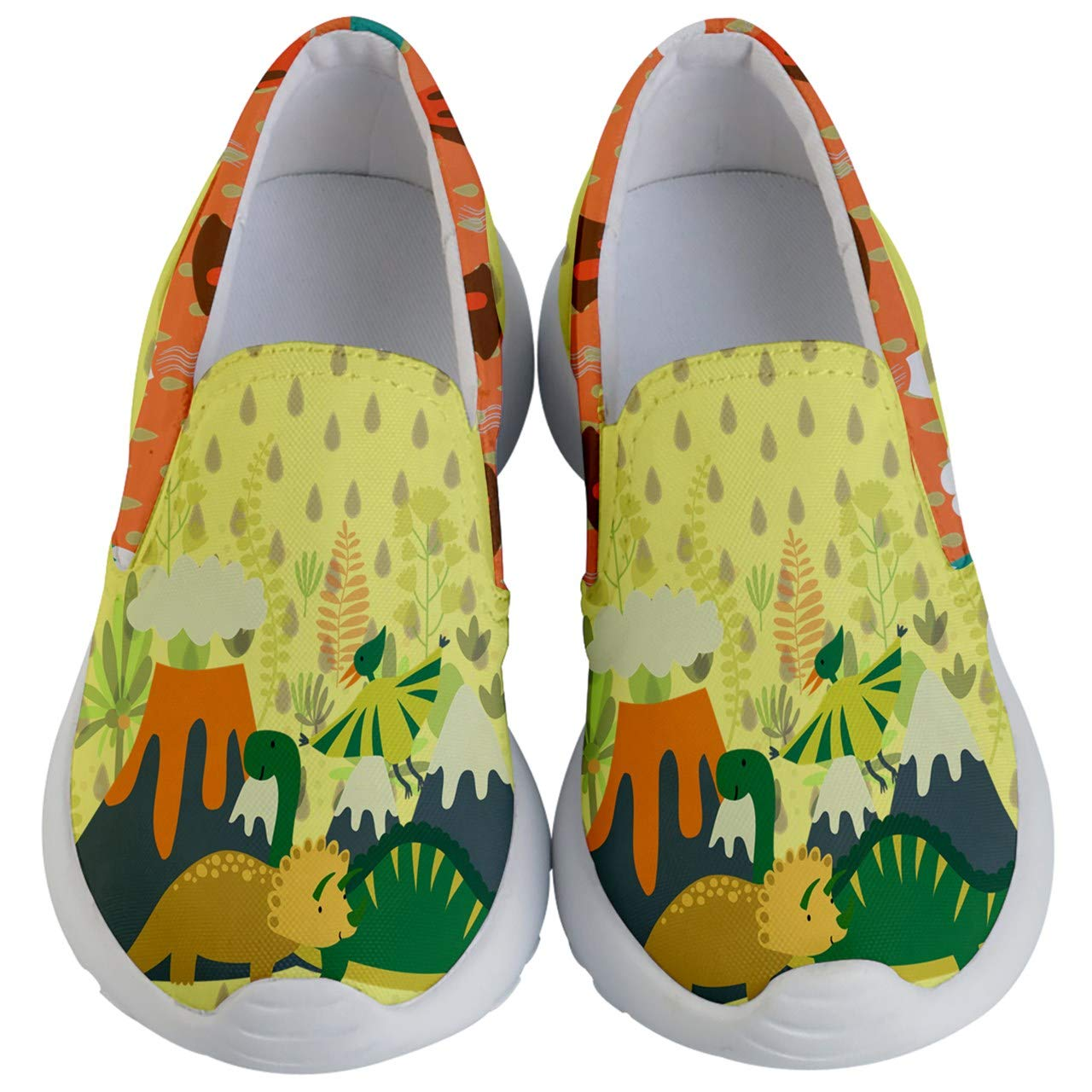 036f15628a9 PattyCandy Kids Casual Slip Ons Cute Apatosaurus Dinosaur & Heart ...