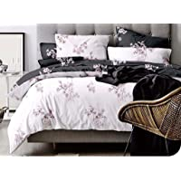 Artistic Quilt Cover Set, 3 Piece Duvet Cover Set Includes 2 Pillowcases, Doona Cover Set M326