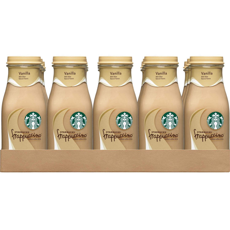 Starbucks Frappuccino, Vanilla,  9.5 Ounce Glass Bottles (15 Count)