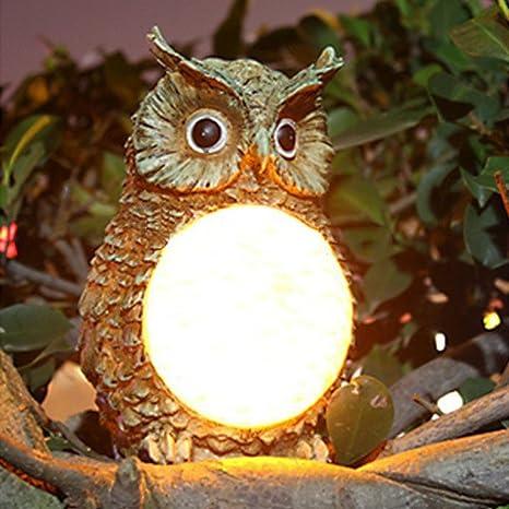 Home & Garden 1pc Led Garden Lights Solar Night Lights Owl Shape Solar-powered Lawn Lamp Garden Creative Solar Lamps