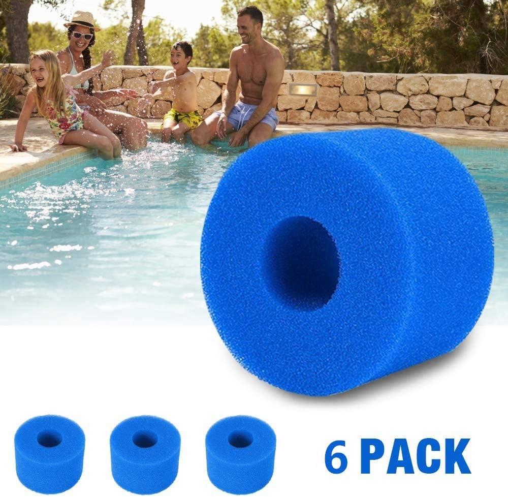 Esponja de filtro para filtro Intex tipo S1 filtro de esponja para piscina Intex tipo S1 reutilizable y lavable de repuesto. filtro de ba/ñera de hidromasaje