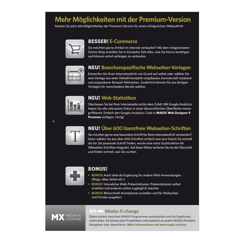MAGIX Web Designer 9 Premium: Amazon.de: Software