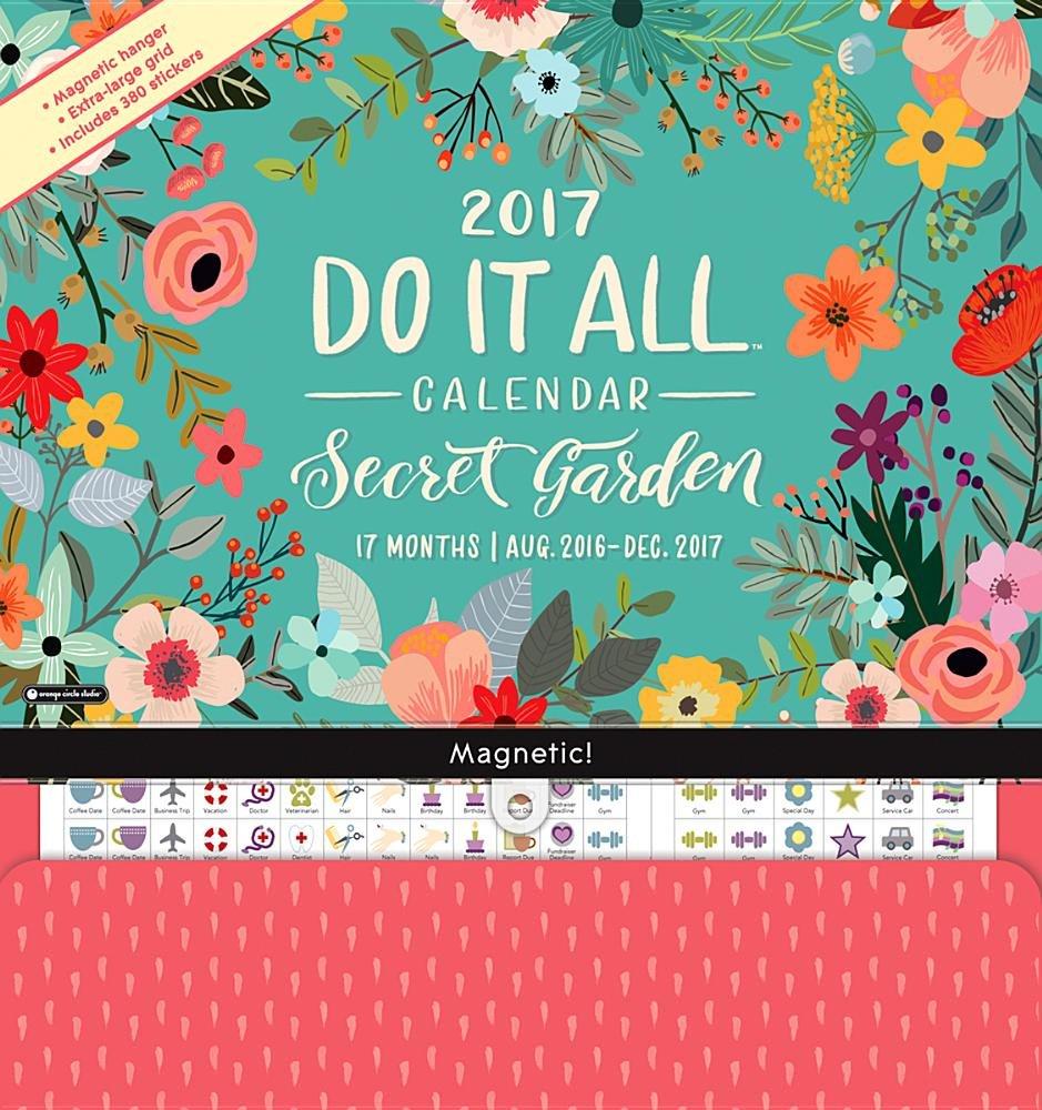 Download Orange Circle Studio 17-Month 2017 Do It All Magnetic Wall Calendar, Secret Garden (Do It All Wall) PDF
