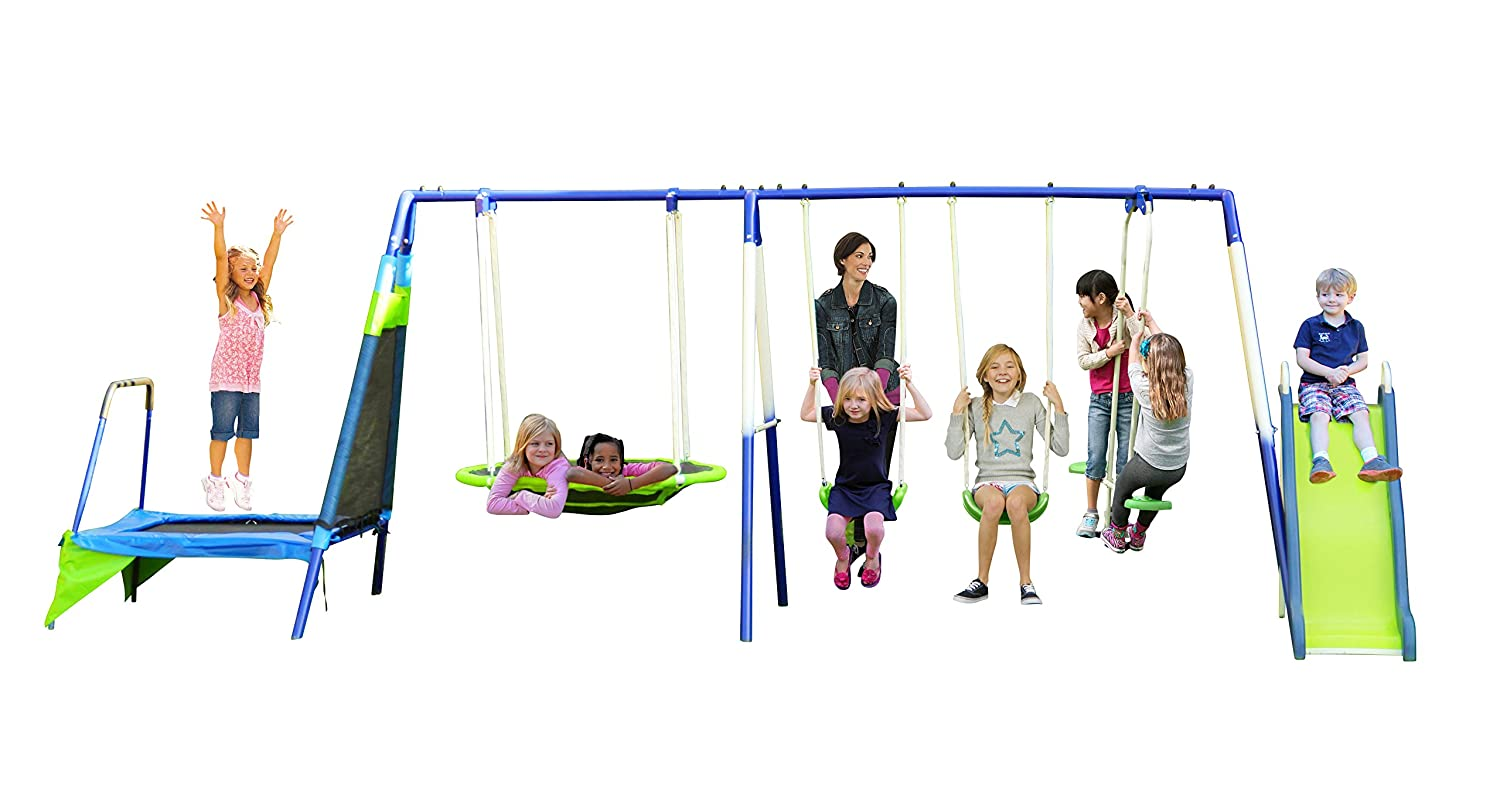 amazon com sportspower mountain view metal swing set toys u0026 games