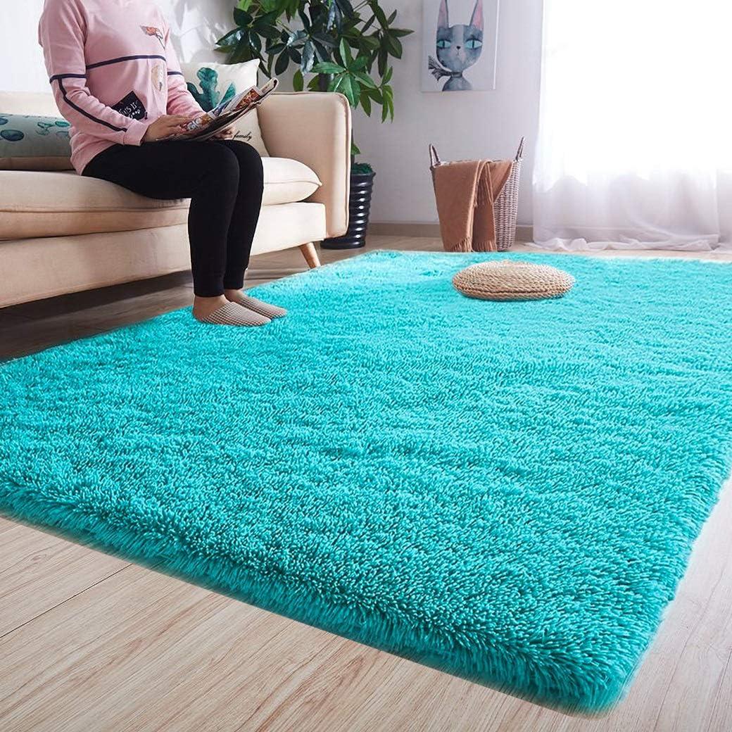Fluffy Rugs Anti-Skid Shaggy Area Rug  Room Carpet Floor Mat Home Bedroom NeALOS