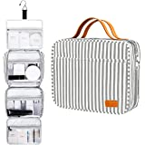Hanging Travel Toiletry Bag,Large Capacity Cosmetic Travel Toiletry Organizer for Women with 4 Compartments & 1 Sturdy…