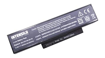 INTENSILO Li-Ion batería 6000mAh (10.8V) para Notebook ordenador portátil Fujitsu-