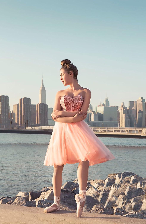 YSMei Womens Short Beaded Prom Dress Girls Sweetheart Babydoll Dress ON021