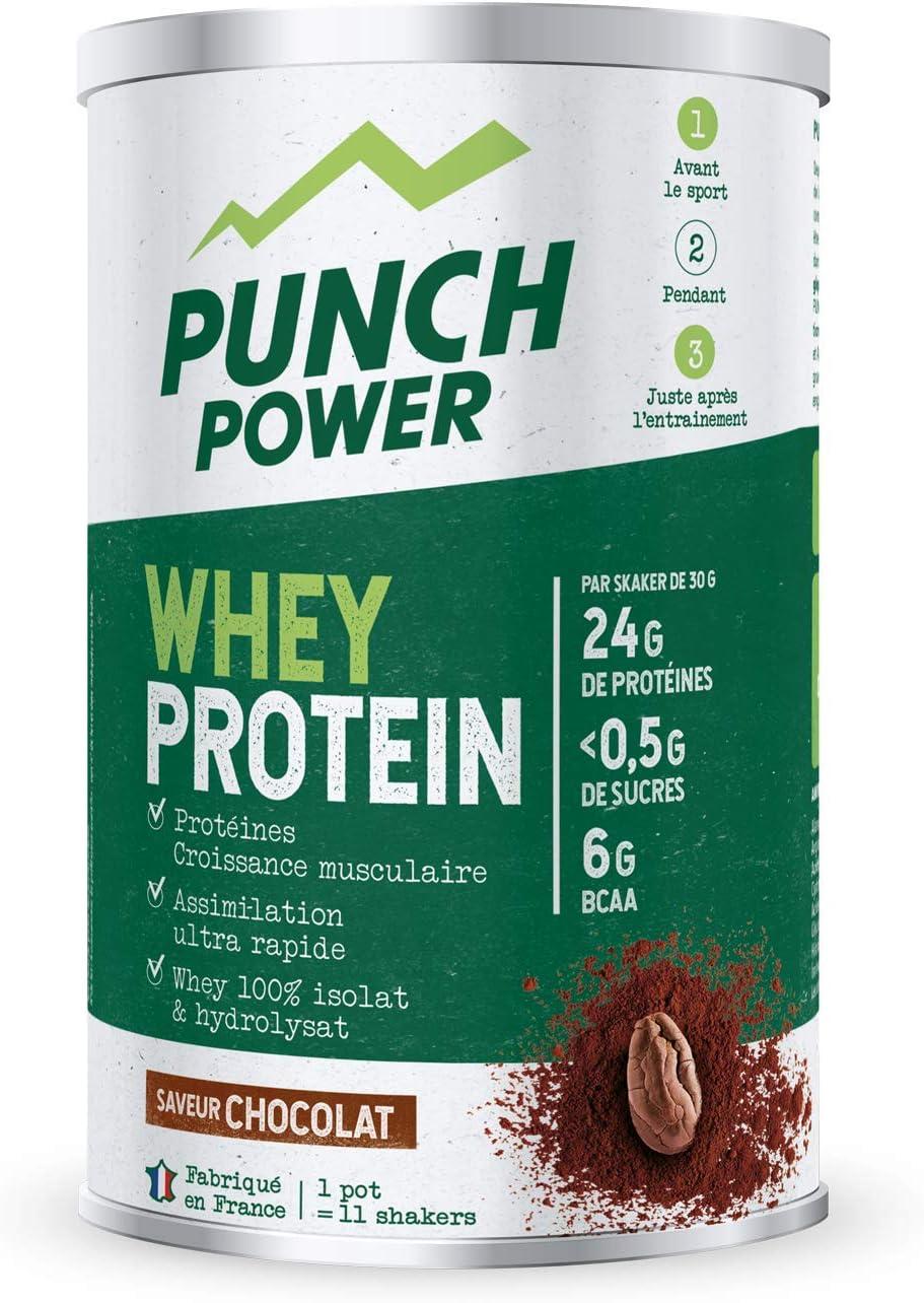 Punch POWER Marca francesa deporte Proteína Desarrollo Muscular Proteína de Whey Sabor Chocolate 350 g