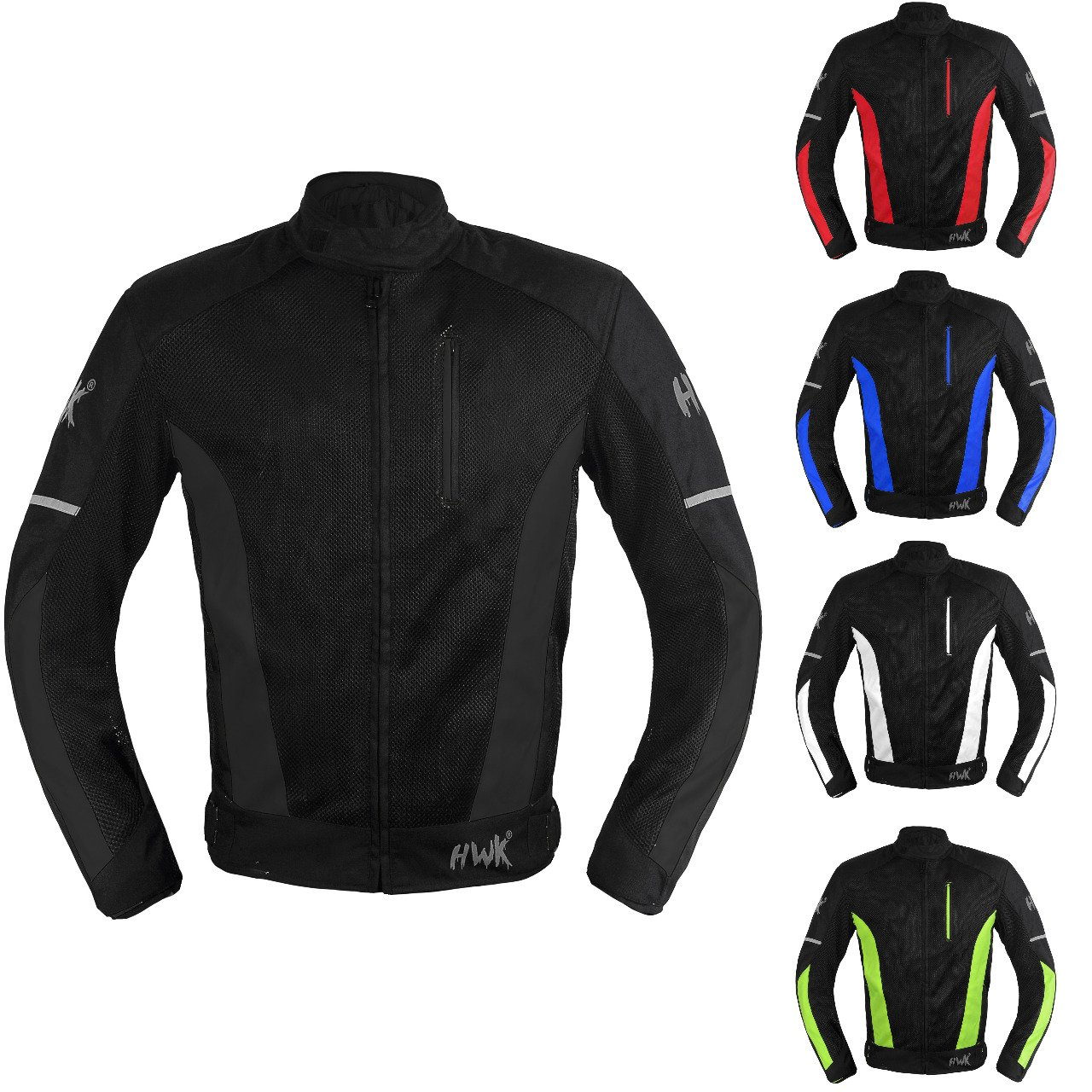 Mesh Motorcycle Jacket Textile Motorbike Summer Biker Air Jacket CE ARMOURED BREATHABLE (Medium, Black)