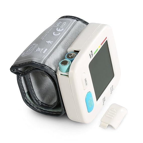 Euph Tensiómetro de Muñeca Monitor Portátil de Presión Arterial Alta Precisión y Fiabilidad con Función de Memoria y Pantalla Digital de LCD: Amazon.es: ...