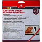 """Red Devil 1227 1time Multi Surface Repair Patch - 2 Pack Of 7"""" x 7"""" Patches"""