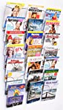 Literature Storage Racks, 21-Pocket Brochure Holders for 8.5 x 11 Magazines, Wall Mounted – Chrome Finish
